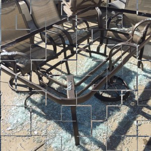 Broken Table Glass