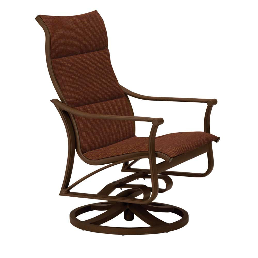 Corsica swivel padded sling Dining Chair