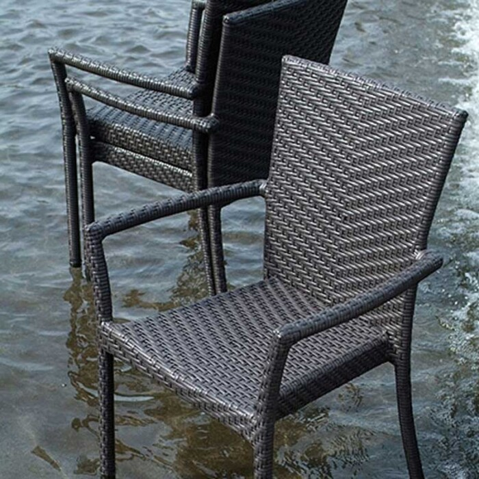 Woodside stacking chairs by Ratana