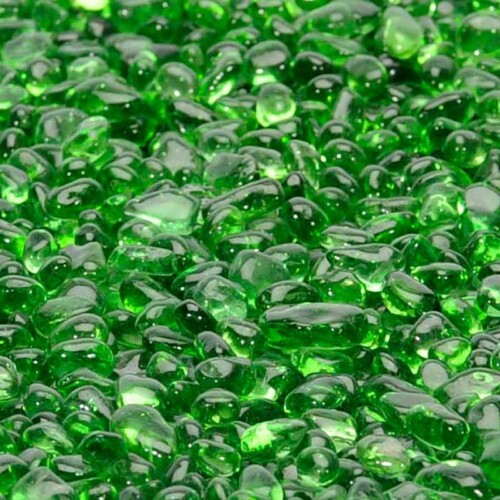 fireglass pebbles electric green