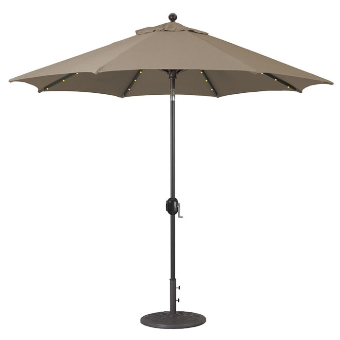 Alimunim Market Umbrella LED