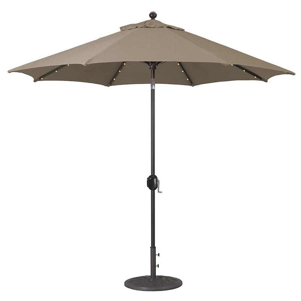 Alimunim Market Umbrella LED
