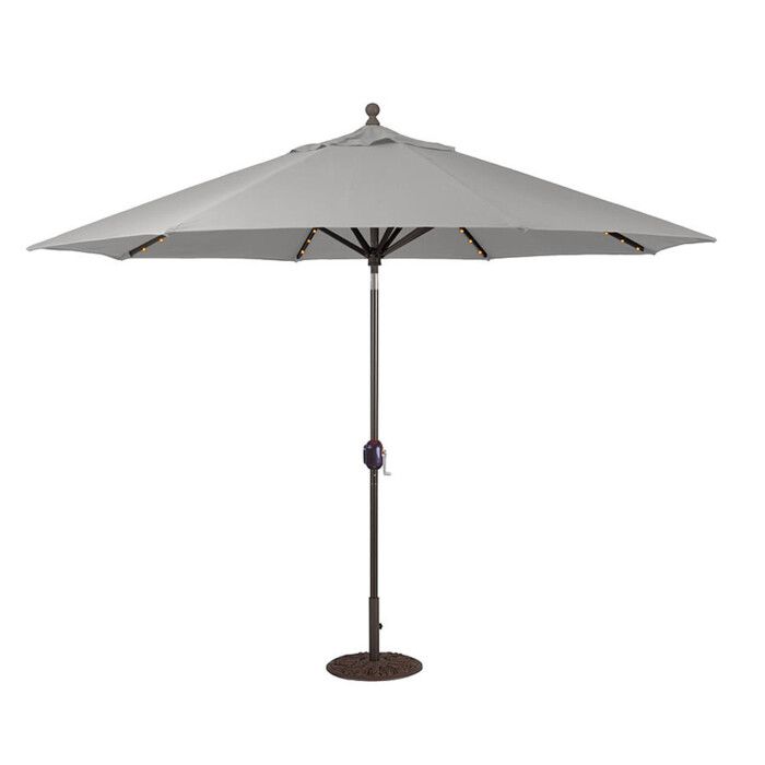 Aluminum Market Umbrella LED Lights