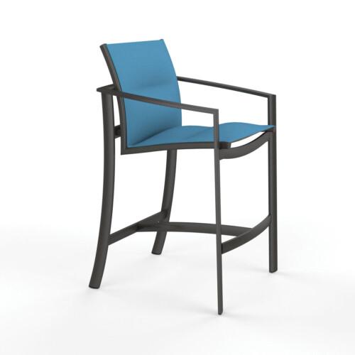 padded sling bar stool facing right